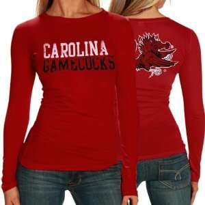South Carolina Gamecocks Ladies Garnet Literality Long Sleeve T shirt