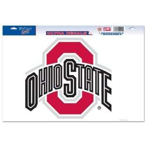Ohio State Buckeyes Ultra Decal 11in x 17in Logo Sports