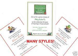 20 Custom Retirement Party Invitations / School Teacher