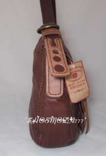 Lucky Brand Leather Stash Bag Purse Brown New 098687277297