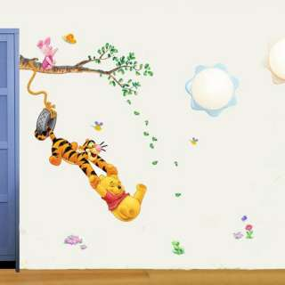 Winnie the Pooh Tiger Swing Tree Art Mural Wall Vinyl Sticker Decal