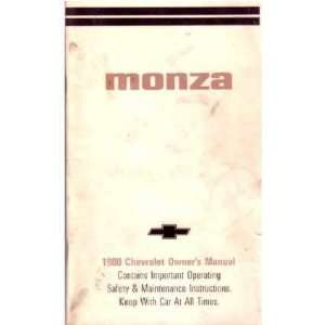 1980 CHEVROLET MONZA Owners Manual User Guide Automotive