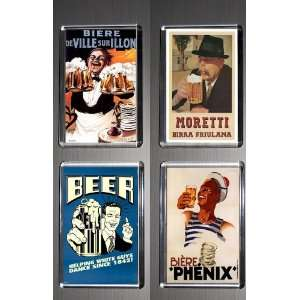 Gift Boxed Set of 4 Fridge Magnets Beer 2