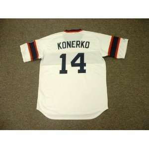 PAUL KONERKO Chicago White Sox Majestic Cooperstown Throwback Home