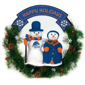20 NCAA Boise State Broncos Happy Holidays Snowman Christmas Wreath