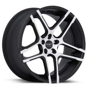 20x10 Dodge Chrysler Wheels Rims Machine Face Matte Black Lip Wheels