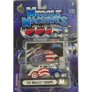 Muscle Machines 1/64 Scale Diecast 1933 Willys Coupe in