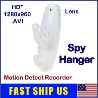 Hook Spy Hanger Camera Mini Hidden DVR Motion Detect *White*