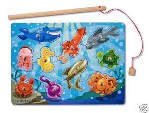 Magnetic FISHING GAME ~ Melissa & and Doug ~ ages 3+ 000772037785