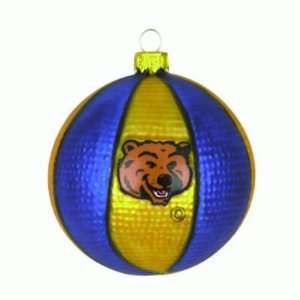 UCLA BRUINS GLASS BASKETBALL CHRISTMAS ORNAMENTS (3
