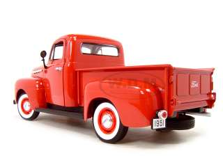 1951 FORD F1 PICKUP TRUCK RED 118 DIECAST MODEL