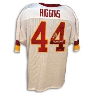 John Riggins Autographed/Hand Signed Custom White Jersey with SB XVII