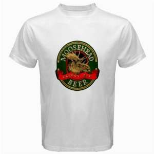 Moosehead Beer Logo New White T Shirt Size  S, M ,L , XL , 2XL , 3XL