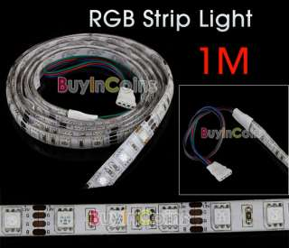 12V Flexible RGB 60 LED Strip Light 5050 SMD Car Auto Decoration Light