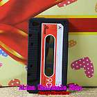Retro Silicone Cassette Tape Case Black /Red Back Cover Case For iPod
