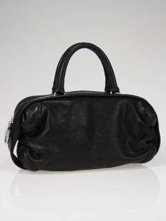 Chanel Black Outdoor Ligne Quilted Caviar Leather Bowler Bag