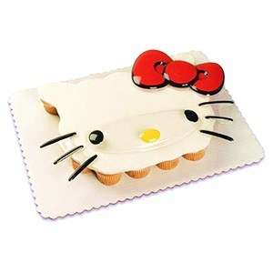 Hello Kitty Face Cake Decoration Pop Top Topper