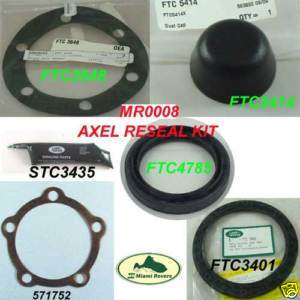 LAND ROVER FRONT AXEL RESEAL KIT DISCOVERY 1 RANGE CL