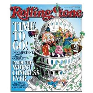 Worst Congress (illustration), 2006 Rolling Stone Cover Poster by