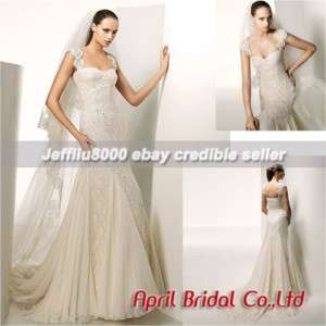 Trumpet Cap shoulder Wedding Dresses/Bridal Gown CHEAP