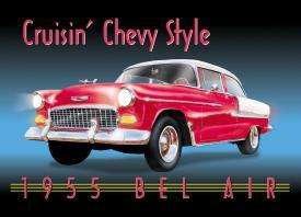 1955 CHEVY BEL AIR   TIN SIGN   VERY NICE QUALITY