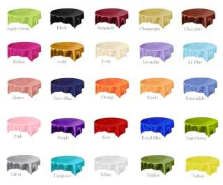 SQUARE OVERLAY 72x72 table wedding party favors wholesale   25 COLORS