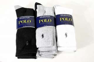 Polo Ralph Lauren Mens 3 Pair Classic Cotton Sport Socks 10 13