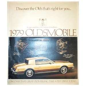 1979 OLDSMOBILE Sales Brochure Literature Book Piece