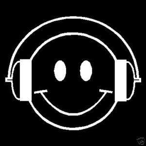 SMILEY FACE DJ Decal/Sticker 4 X 5 NEW, Cute FREE S&H