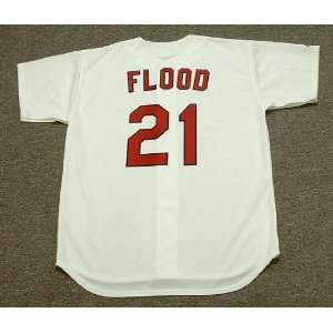 CURT FLOOD St. Louis Cardinals 1967 Majestic Cooperstown Throwback