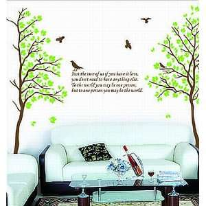 Two Trees or Combine for 1 Large Tree Birds Quote Wall Sticker Decal