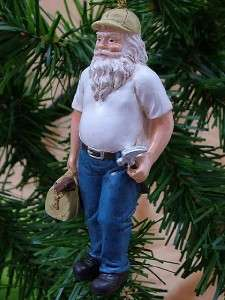 New Handyman Construction Hammer Santa Claus Ornament