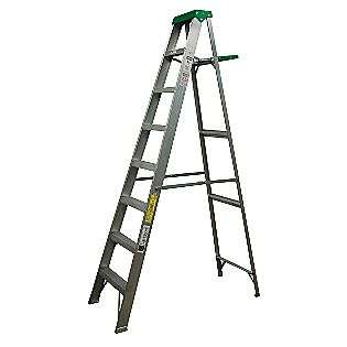 ft. Aluminum Step Ladder with Pail Shelf  Davidson Tools Garage