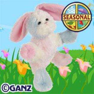 Cotton Candy Bunny Plush Stuffed Animal and Virtual Pet (Seasonal