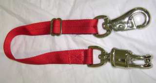 NEW RED Nylon Web Horse Trailer Tie Panic/Bull Snaps