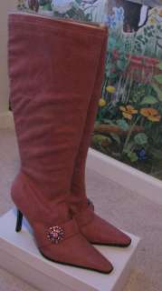 AMANDA SMITH DARK PINK WOMEN KNEE  HIGH BOOTS SZ 7M
