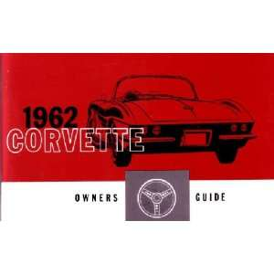 1962 CHEVROLET CORVETTE Owners Manual User Guide Automotive