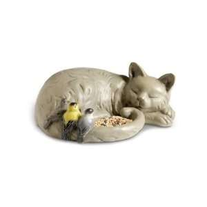 Sleeping Cat Bird Feeder