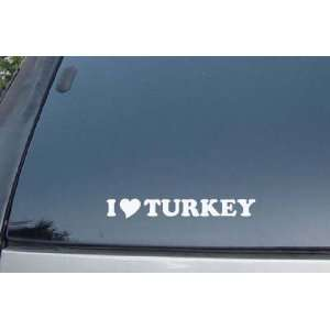 I Love Turkey Food Vinyl Decal Stickers