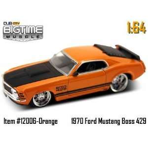 Orange 1970 Ford Mustang Boss 429 164 Die Cast Car Toys & Games