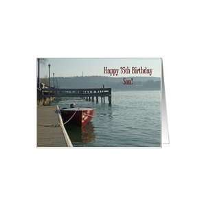 Fishing Boat 35th Son Birthday Card Card Toys & Games