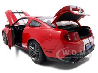 18 scale diecast car model of 2010 ford shelby mustang gt500 torch red