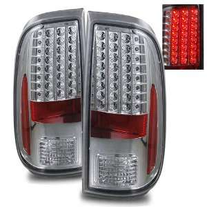 08 11 Ford Super Duty Chrome LED Tail Lights Automotive