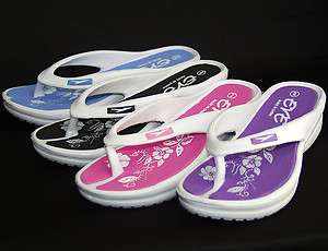 Flip Flops Sport Sandals Shoes Thongs Indoor Outdoor White