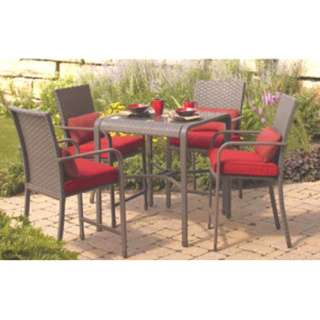 Hometrends Rushreed Patio Wicker Bar Table   NEW