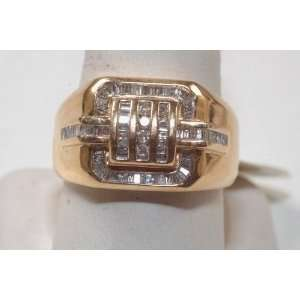 14k Yellow Gold and Diamond Mens Ring Jewelry B/new Jewelry