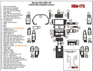 Honda Pilot 03 05 Wood Chrome Dash Trim Kit Parts