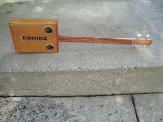 String Electric/Acoustic Cigar Box Guitar ~ Cohiba ~ Banjo