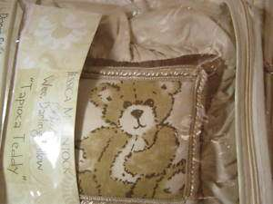 Jessica McClintock Tapioca Teddy BEAR Wee Darling Decorative PILLOW