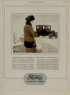 1924 FORD CAR AUTO AD / CLOSED CARS ARTISTS G. HARPER